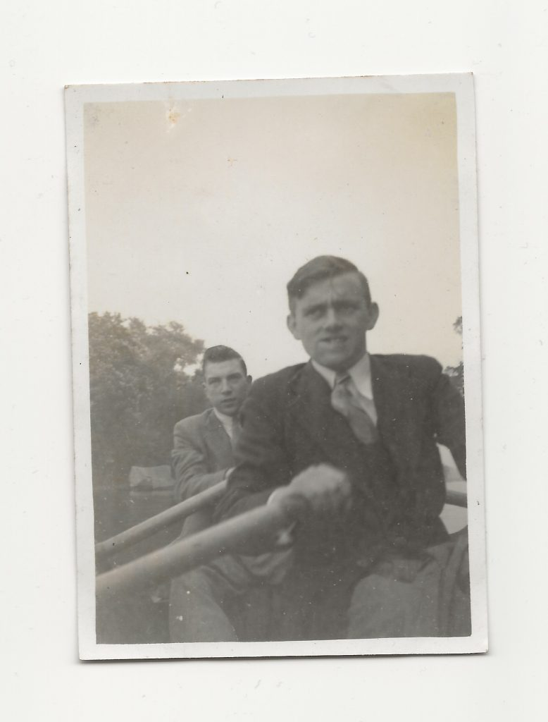 Members of the The Eagle Cycling and Social Club Rambling Section on a trip to the Thames in about 1942.