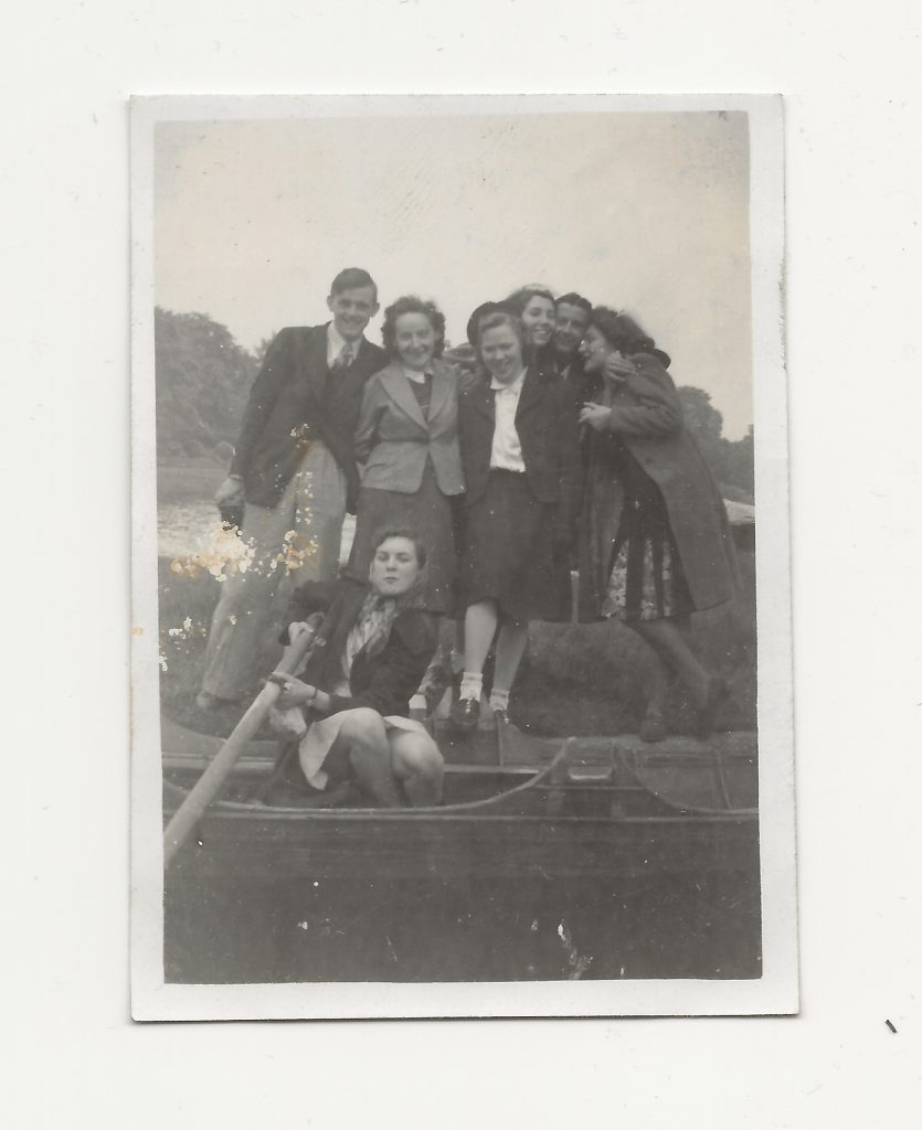 Members of the Eagle Social and Cycling Club Rambling Section on a trip to the Thames in about 1942
