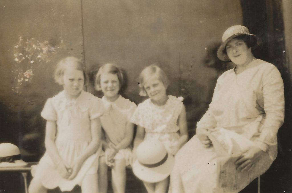 1932 est Margaret Grace and Annie Whitehead with Margaret Mellor on the Crested Eagle